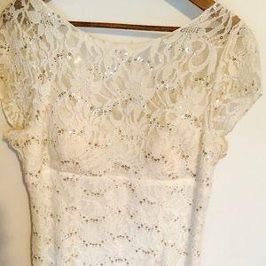 Adrianna Papell Bridal Reception Dress (size 14)
